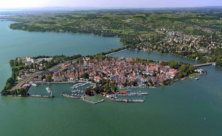 Lindau Luftaufnahme Insel Hafeneinfahrt Urh Nuerberger Luftbild Hajo Dietz