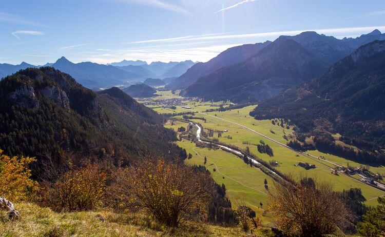 Blick Von Burgruine Falkenstein Pfronten Tourismus Gallerie