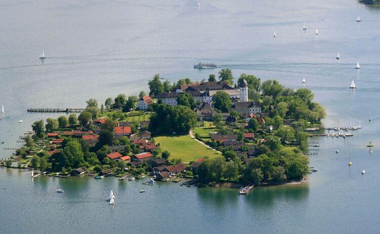 Chiemsee Alpenland Fraueninsel Chiemsee Luftaufnahmen Copyrigth Foto Berger Web