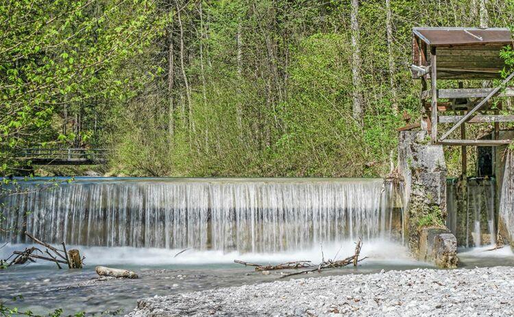 Giessenbachklamm Kiefersfelden Wehranlage Zum Wassserrad 2