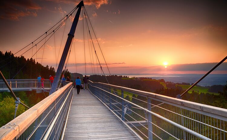 Skywalk Allgaeu Sonnenuntergang Gallerie