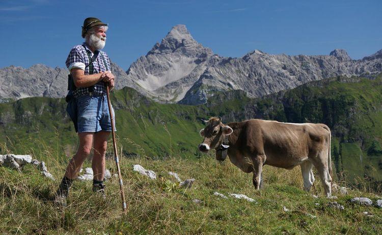 Ti Bad Hindelang Tourismus Wolfgang B Kleiner Alpwirtschaft Bad Hindelang Mit Blick Auf Hochvogel